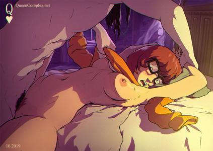 Velma Dinkley taking a break from solving mysteries