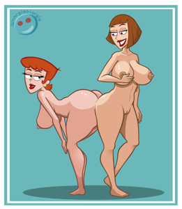 Dexters Mom and Madeline Fenton