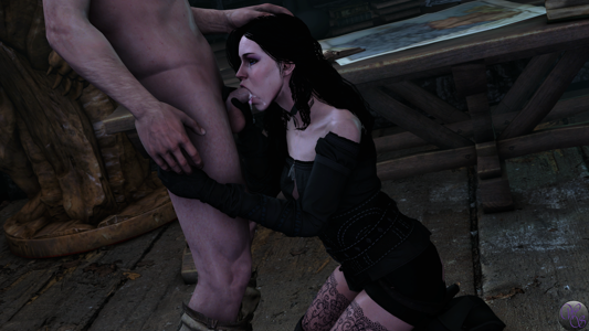 Yennefer gets her mouth filled