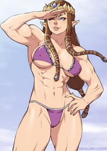 Zelda - the perfect beach body, just in time for summer