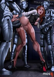 Amy Pond getting gangbanged by Cybermen