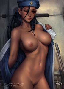 Captain Amari being hot
