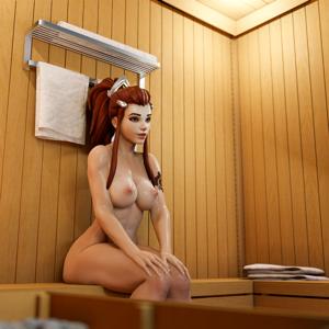 Brigitte in a sauna