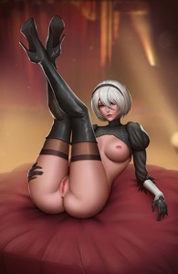 2B's displaying her Perfect Rear ~