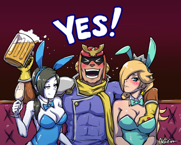 Captain Falcon at the stripclub