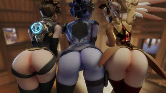 The holy Trinity of Widowmaker Tracer and Mercy  (reupload messed up in the title)