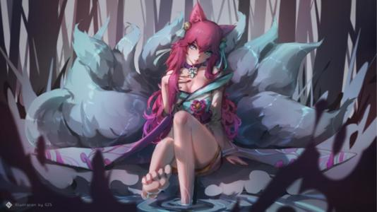 Spirit blossom Ahri showing you her feet