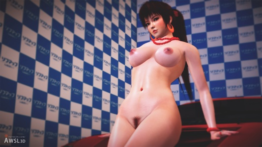 Kasumi Nude Car Model