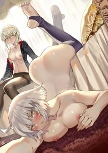 Sexy Posing Jeanne and Artoria Alter