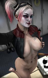 Harley Quinn showing off  [Arkham asylum]