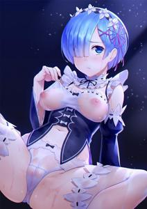 Rem needs help getting changed.