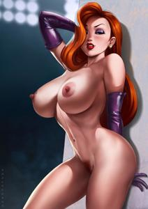 Jessica Rabbit showing off her sexy body