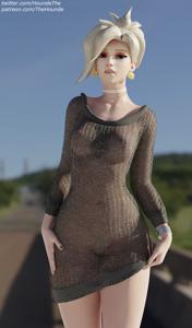 Mercy's new dress