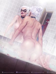 Black Cat teasing Spider-Man