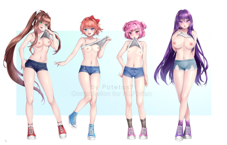 Monika, Sayori, Natsuki & Yuri