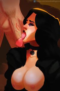 Yen licking cock