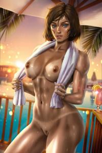 Korra during her vacation