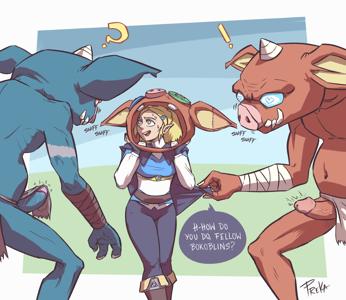Zelda among Bokoblins