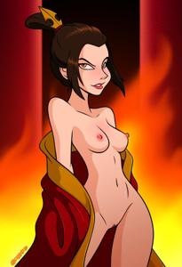 Azula is getting ready to get hot and heavy