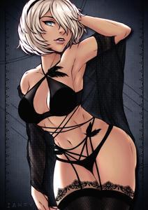 2B in lingerie