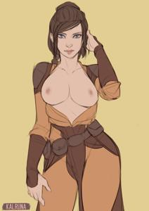 Bastila Shan showing her sexy tits