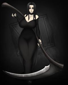 Sexy Gothicc Milf , Morticia Addams