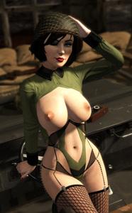 Elizabeth looking cute as a pinup!