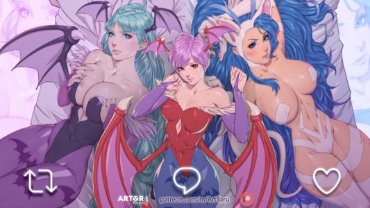 Morrigan, Lilith Aesland, Felicia - the seductress of the night