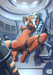 Ahsoka Tano being interrogated by the Empire