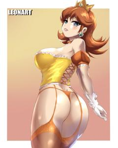 Princess Daisy showing off her new lingerie