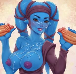 Aayla Secura is showing off her Jedi training
