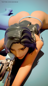 Ana aiming at her prey