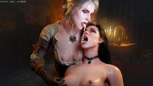 Ciri and Yennefer cum swapping