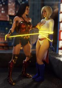 Wonder Woman & Power Girl,