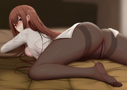There's a version of this pic without panties and all, but i personally think the pantyhose makes it better