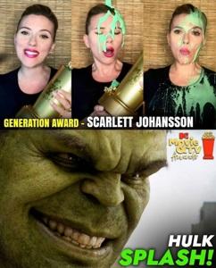 Hulk with the achievement reward