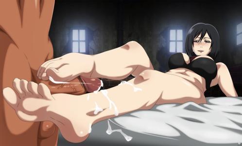 Mikasa foot job pt.1