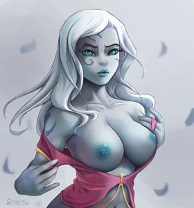 Jarael showing off her big tits