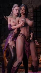 Mileena and Sindel