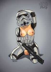 Stormtrooper girl to bring in the troops