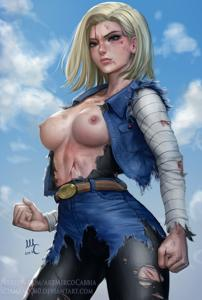 Android 18 Battle Damage