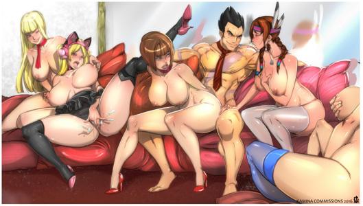 Kazuya's Orgy ft. Anna, Julia, Asuka, Lili & Chloe