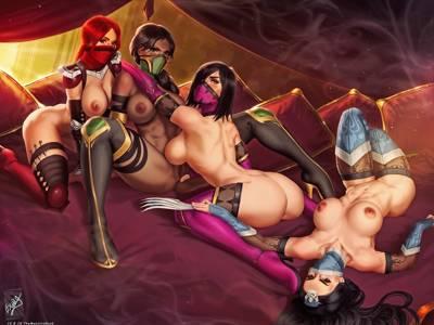 Jade, Kitana, Mileena and Skarlet -  -