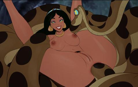 Princess Jasmine x Kaa