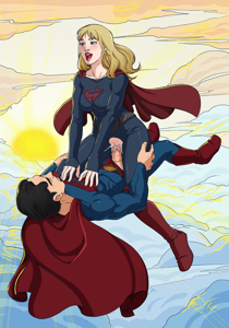 Supergirl and Superman repopulating the kryptonian race