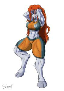 My drawing of commander Shadowsun from Warhammer 40k i did last year. Love them muscle girls