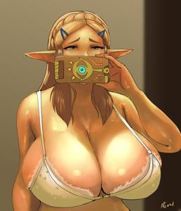 Zelda starting to get into mommy shape