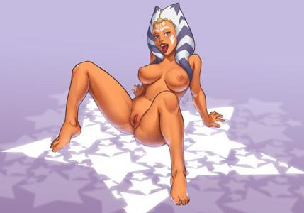 Ahsoka Tano showing off her gorgeous body