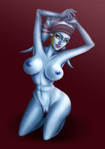 Aayla Secura showing off her glorious body