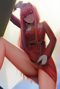 Zero Two wants to hop on your cock